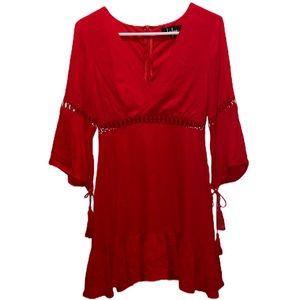 NWT Lulu's Red Wrap Dress